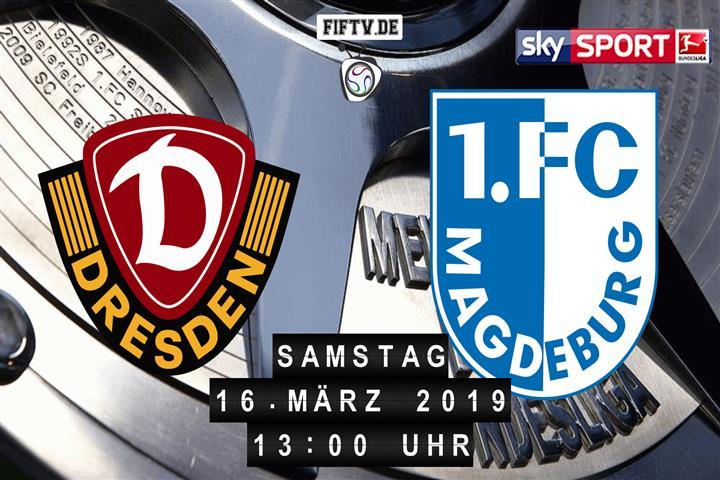 Dynamo Dresden - 1.FC Magdeburg Spielankündigung