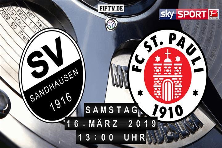 SV Sandhausen - FC St. Pauli Spielankündigung