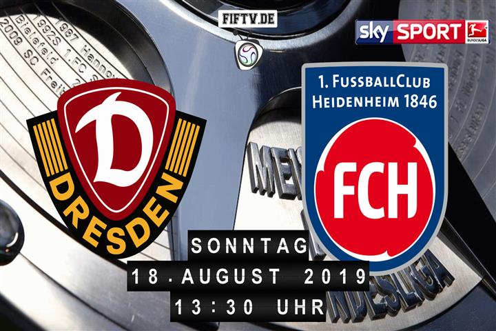 Dynamo Dresden - 1.FC Heidenheim Spielankündigung