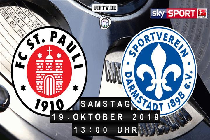 FC St. Pauli - Darmstadt 98 Spielankündigung