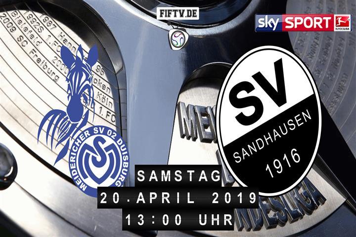 MSV Duisburg - SV Sandhausen Spielankündigung