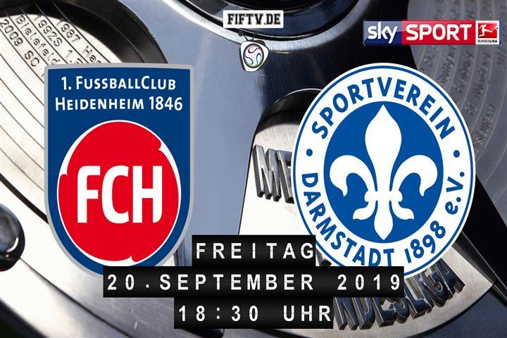 1.FC Heidenheim - Darmstadt 98 Spielankündigung