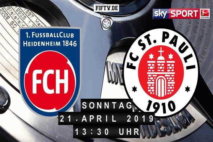 1.FC Heidenheim - FC St. Pauli Spielankündigung