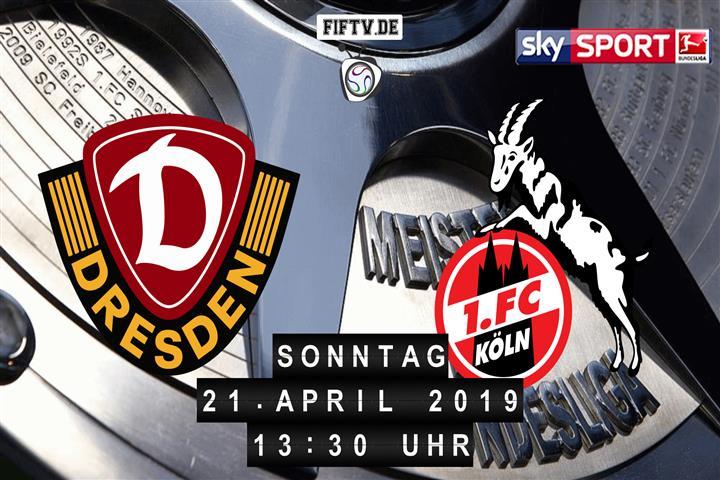 Dynamo Dresden - 1.FC Köln Spielankündigung