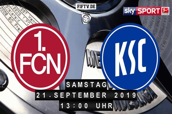 1.FC Nürnberg - Karlsruher SC Spielankündigung