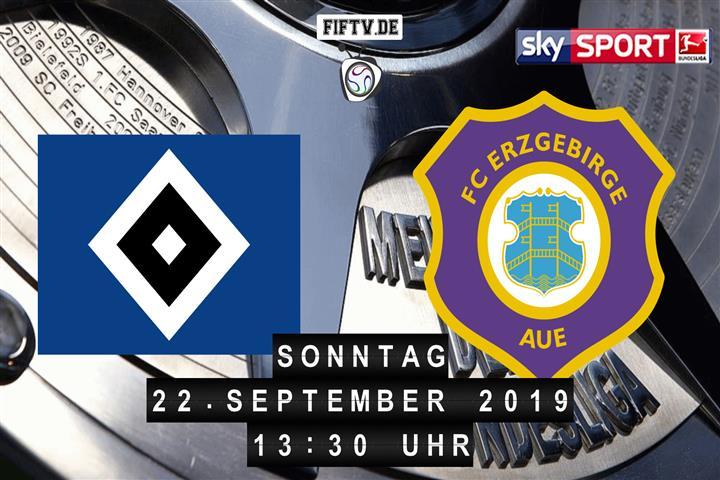 Hamburger SV - Erzgebirge Aue Spielankündigung