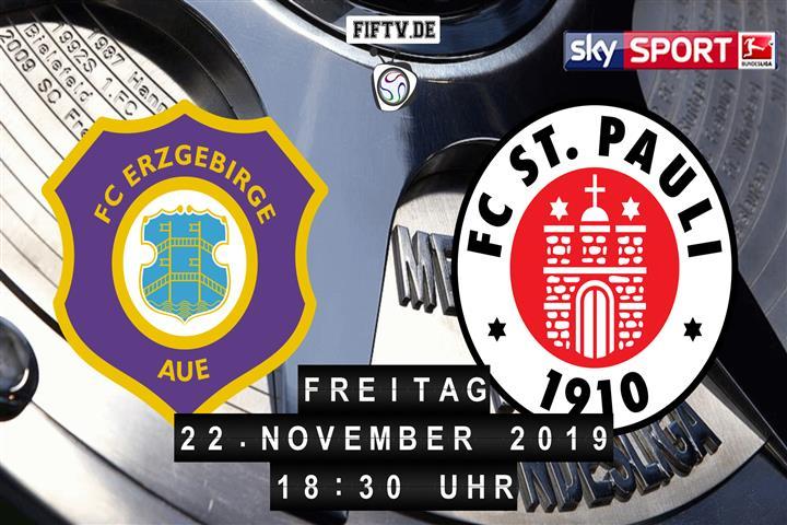 Erzgebirge Aue - FC St. Pauli Spielankündigung