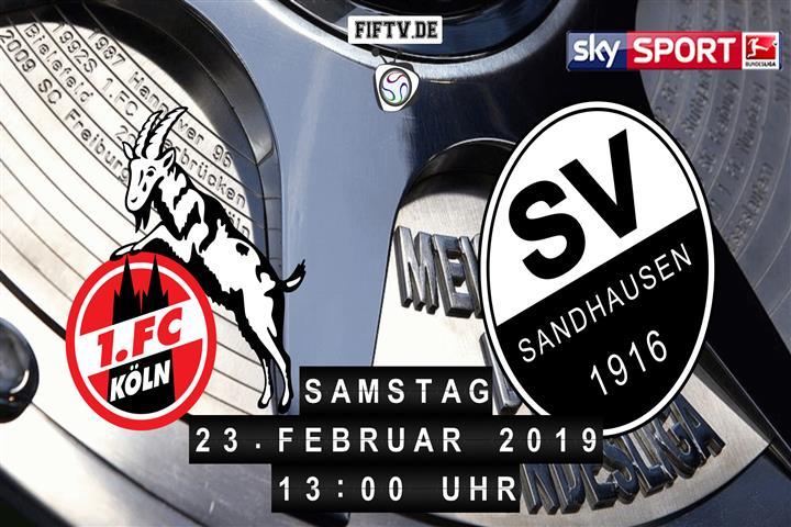 1.FC Köln - SV Sandhausen Spielankündigung