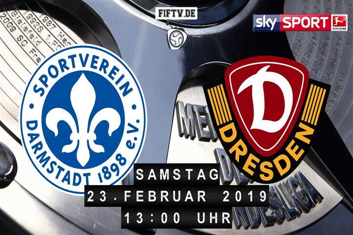 Darmstadt 98 - Dynamo Dresden Spielankündigung