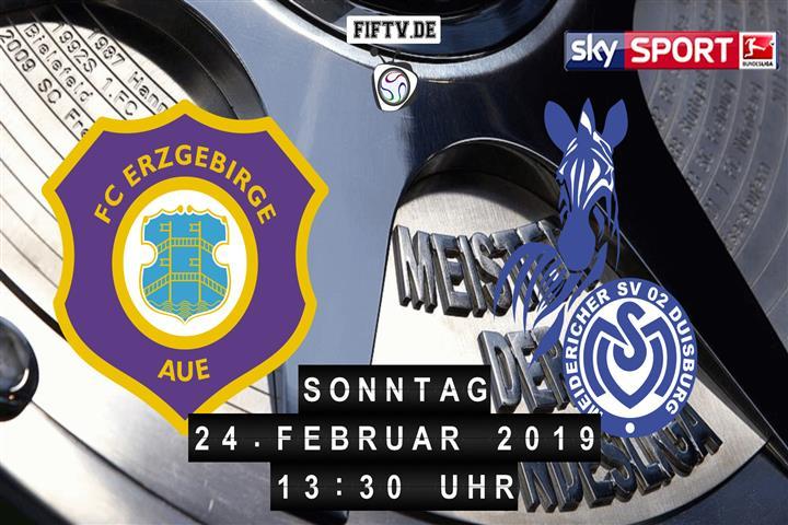 Erzgebirge Aue - MSV Duisburg Spielankündigung