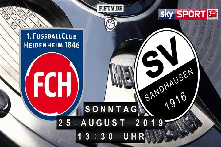 1.FC Heidenheim - SV Sandhausen Spielankündigung