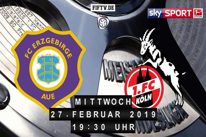 Erzgebirge Aue - 1.FC Köln Spielankündigung