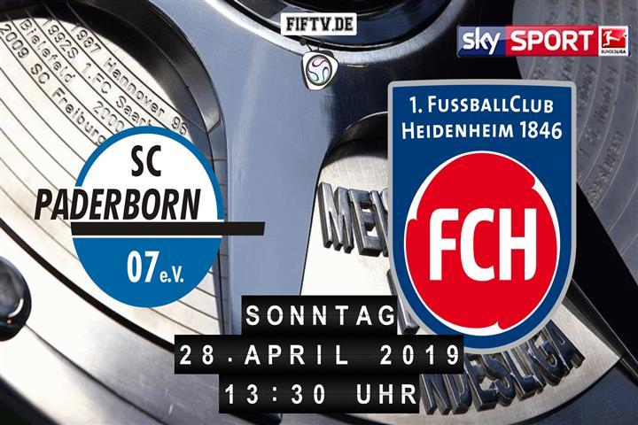 SC Paderborn 07 - 1.FC Heidenheim Spielankündigung