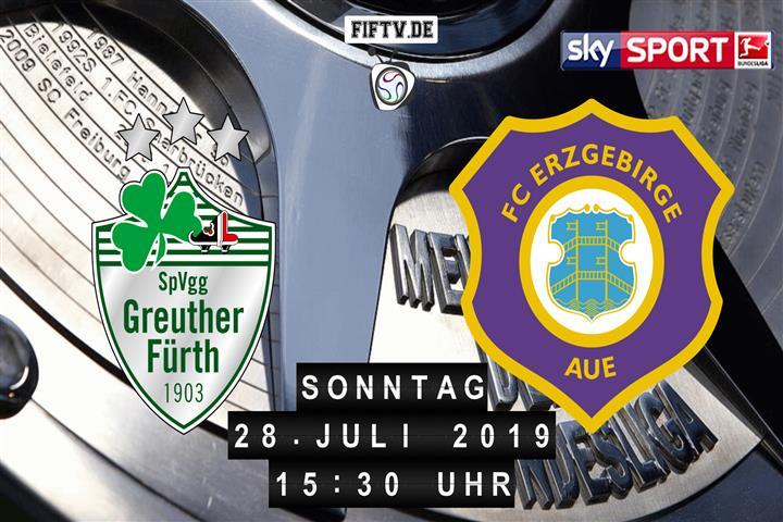 SpVgg Greuther Fürth - Erzgebirge Aue Spielankündigung