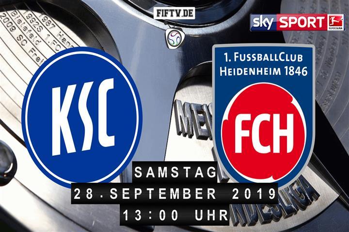 Karlsruher SC - 1.FC Heidenheim Spielankündigung