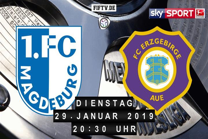 1.FC Magdeburg - Erzgebirge Aue Spielankündigung