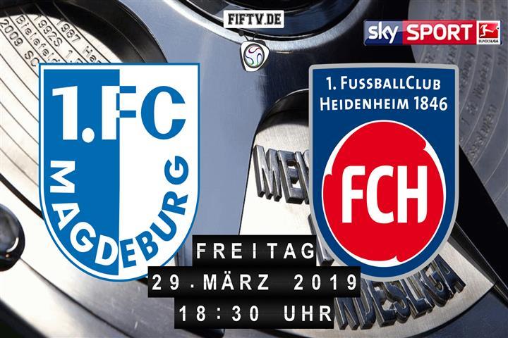 1.FC Magdeburg - 1.FC Heidenheim Spielankündigung