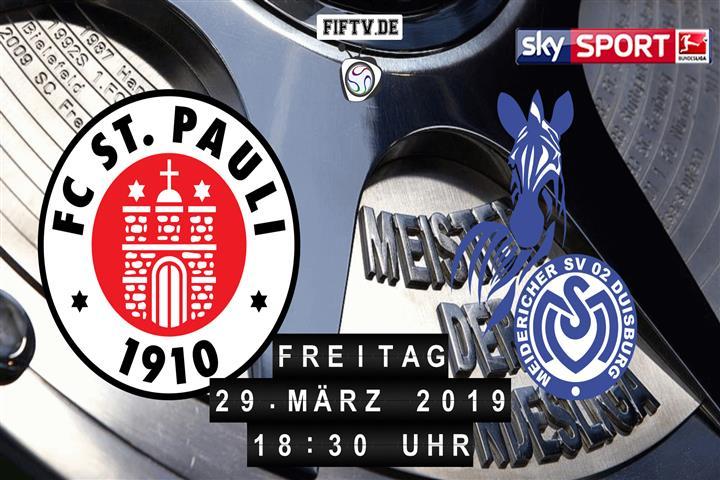 FC St. Pauli - MSV Duisburg Spielankündigung