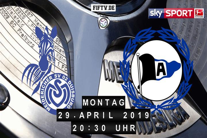 MSV Duisburg - Arminia Bielefeld Spielankündigung