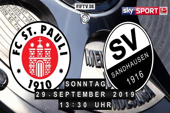 FC St. Pauli - SV Sandhausen Spielankündigung