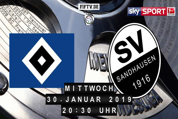 Hamburger SV - SV Sandhausen Spielankündigung