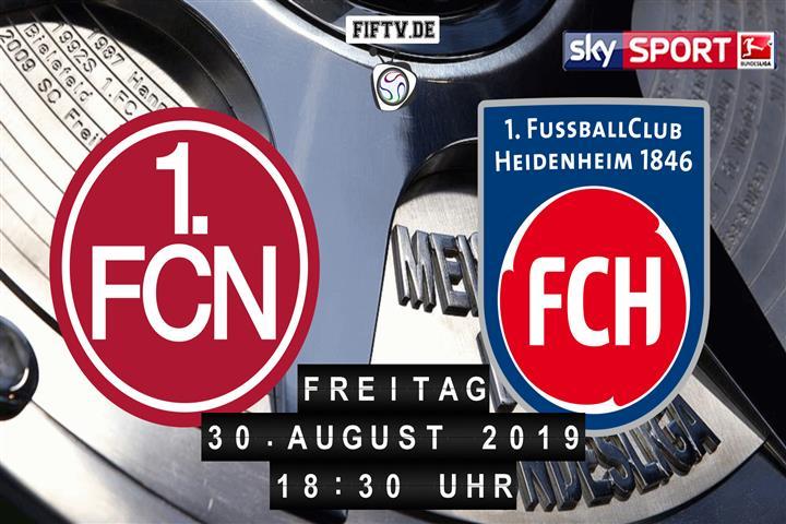 1.FC Nürnberg - 1.FC Heidenheim Spielankündigung