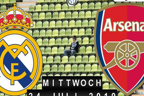 Fussball live: Real Madrid - FC Arsenal